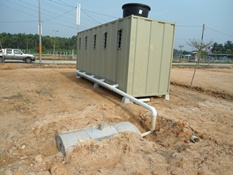 Toilet cabin with septic tanks manufacturer supplier for Cabin septic systems